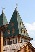 vrchol věže staré ruské královského paláce