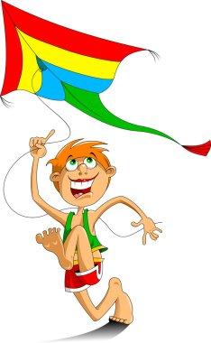 Boy and a kite