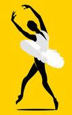 Fényképek balerina sziluett