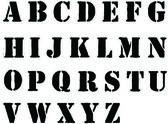 Fotografie Schablone Buchstaben in schwarz Graffiti-Stil gesprüht