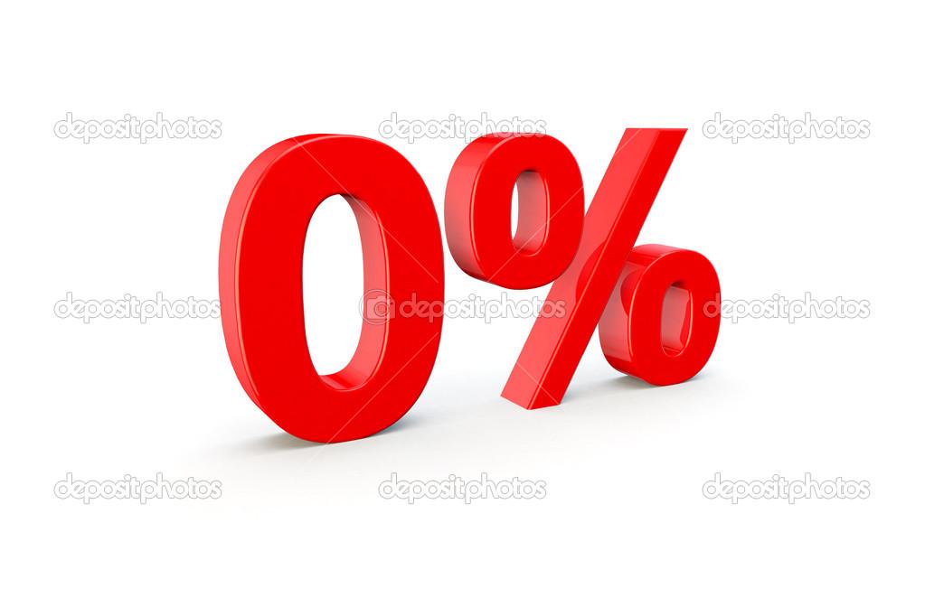 Rood Symbool Of Icoon Met 0 Procent Stockfoto Joingate 45749959