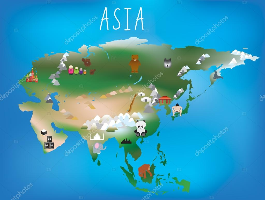 map of asia continent