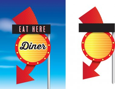 american style retro vintage 1950s diner signs