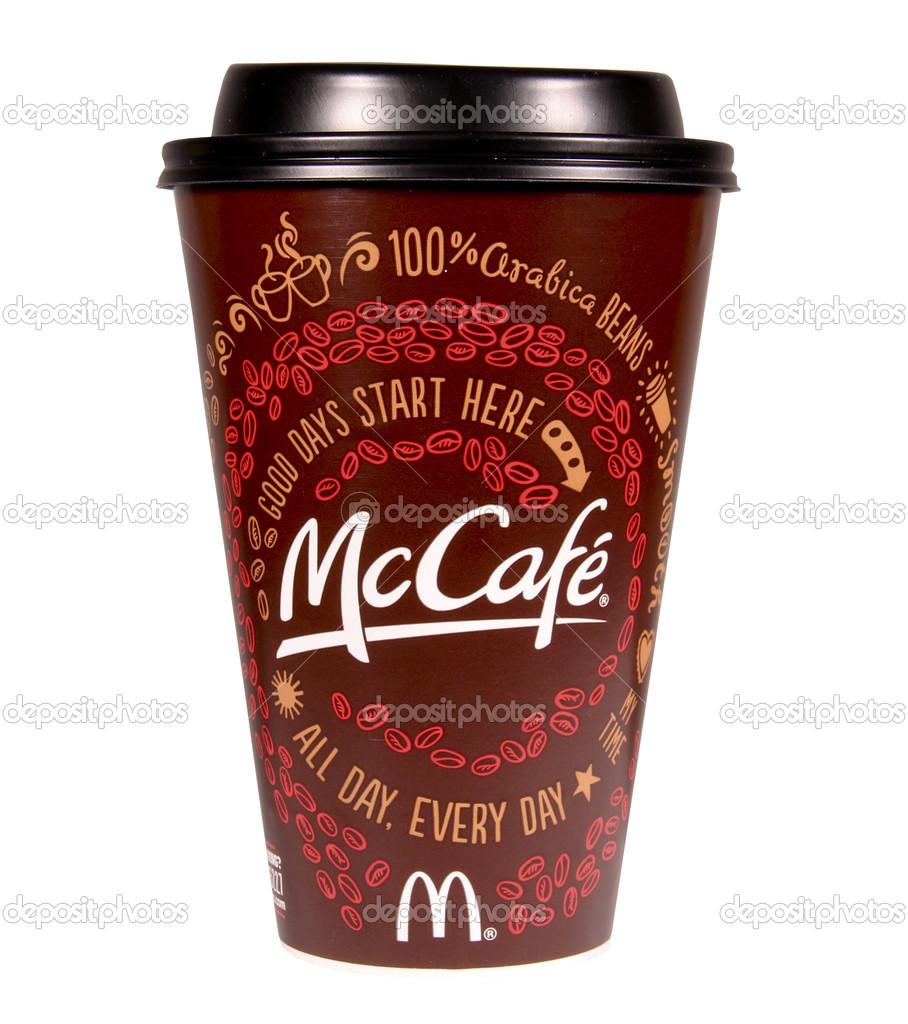McDonalds Mccafe Kaffee — Redaktionelles Stockfoto © dcwcreations ...