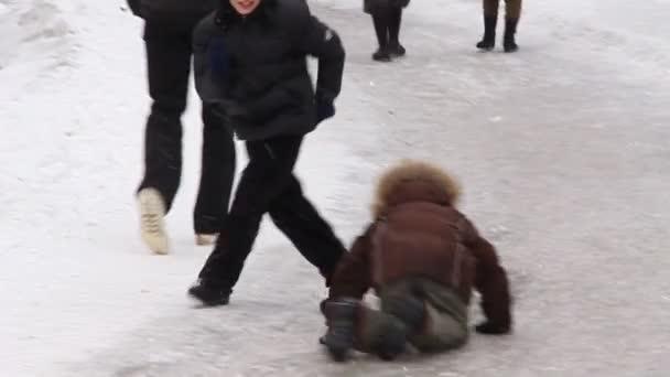 Boys on skating-rink