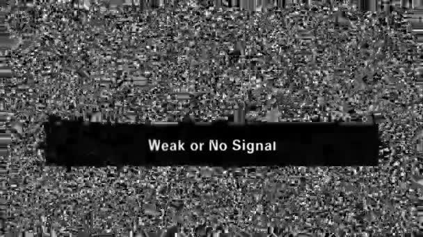 Fernsehgeräusch. Schwaches oder kein Signal