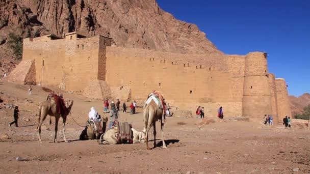 Klášter svaté Kateřiny. Sinajský poloostrov. Egypt
