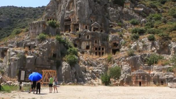 Felsengräber der antiken lykischen Nekropole. Alter Name - Demre Truthahn