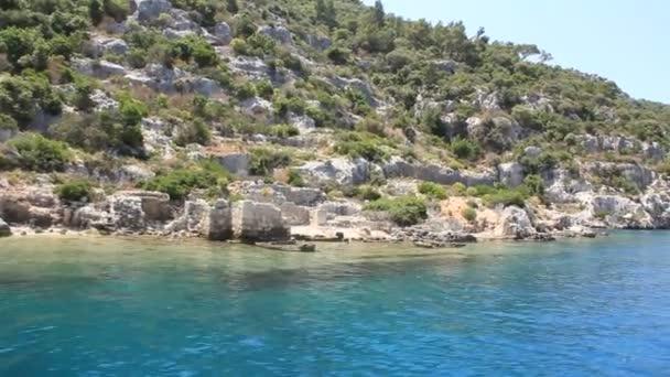 simena - überflutete antike lykische Stadt.kekova island.ruinen antiker architektur