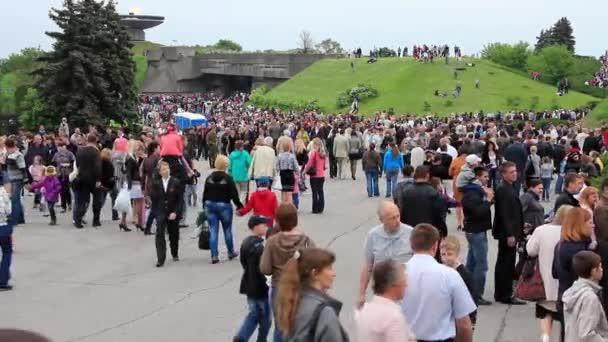 Kyjev, Ukrajina, května 9, 2012: lidé na slavnostní přehlídce věnované Šedesátésedmého výročí vítězství ve Velké vlastenecké válce (druhé světové války) v Kyjevě, Ukrajina, května 9, 2012