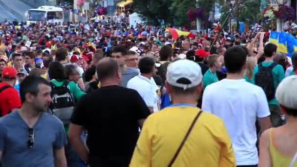 Football fans crowd before final match of European Football Championship 2012
