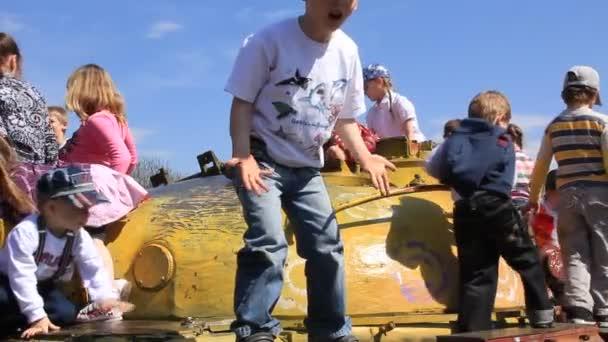 děti na tank