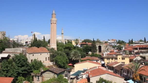 Yivli minaret. Kaleici - staré město v antalya, Turecko