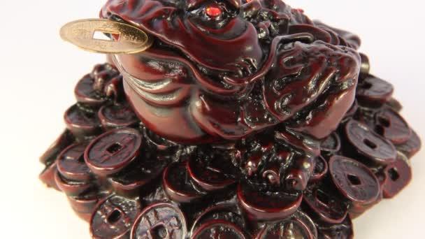 feng shui. žába symbolizující bohatství a prosperity