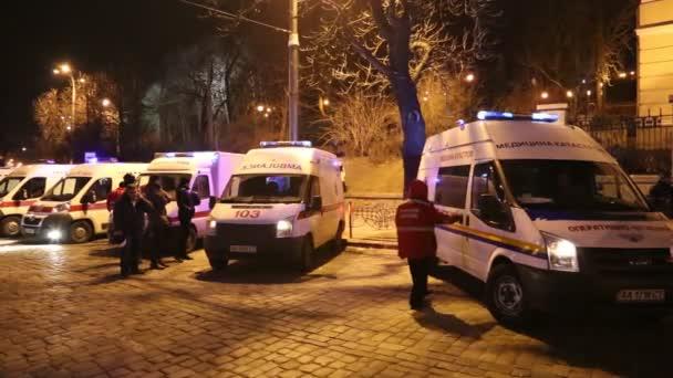Ukrajina, Kyjev, 19 ledna 2014: Protivládní protest v Kyjevě, Ukrajina