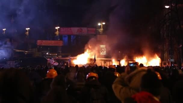 UKRAINE, KIEV, JANUARY 19, 2014: Anti-government protest in Kiev, Ukraine
