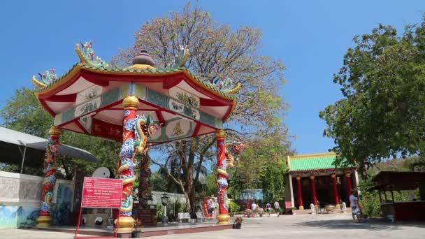 People near buddhist temple in Pattaya, Thailand