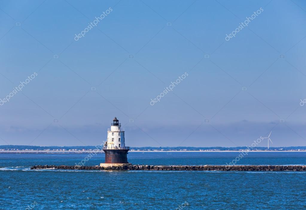 Harbor of Refuge Light Lighthouse in Delaware Bay at Cape Henlop