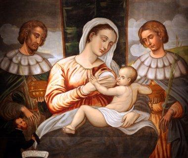 Madonna and Child Saint Cosmas and Damian