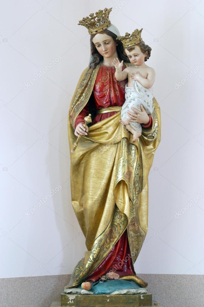 blessed virgin mary with baby jesus stock photo zatletic 14278719