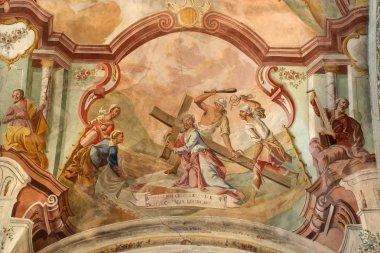 "Картина, постер, плакат, фотообои ""иисус берет свой крест мир"", артикул 15266999"