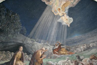 Angel of the Lord visited the shepherds and informed them of Jesus' birth