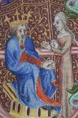 Ilustrace ve staré knize Bibli