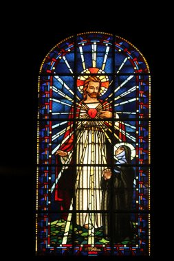 Sacred heart of Jesus and Saint Margaret Mary Alacoque