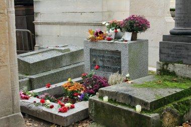 Jim Morrison grave in Père Lachaise cemetery, Paris
