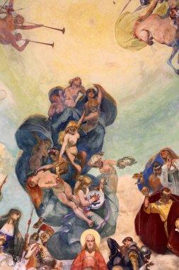 """Картина, постер, плакат, фотообои """"фресками купол Музыкальный киоск, Рапалло, Италия"""", артикул 48020061"""