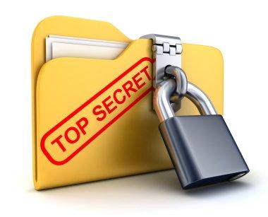 File top secret and lock