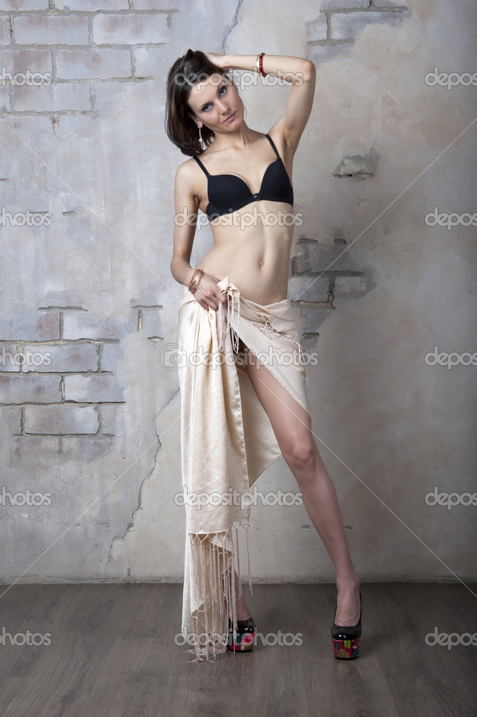 fa2c501ac60 Young woman in black lingerie — Stock Photo © Aviavlad3 #27701385