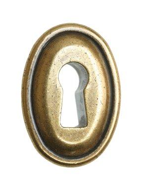 Keyhole on white background.