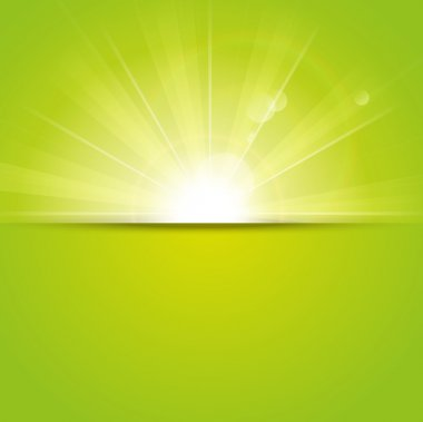 Green sunny background with place for text stock vector