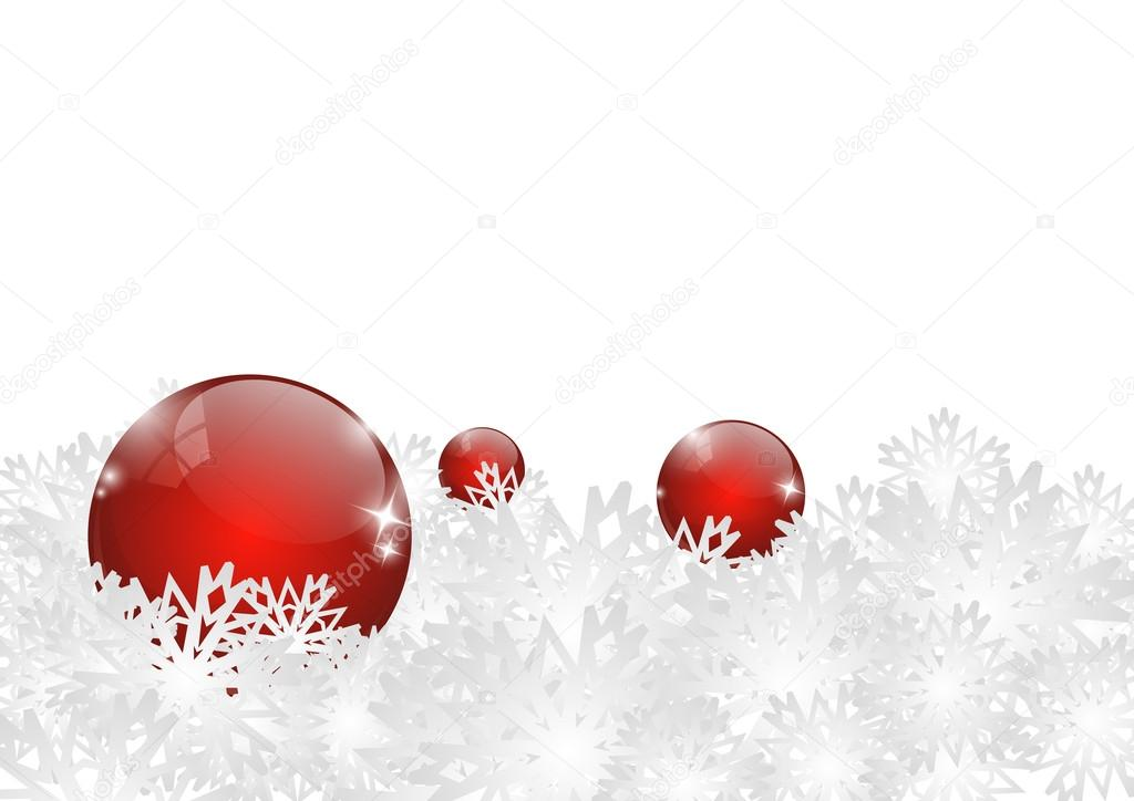 frohe weihnachten rote kugeln stockvektor huhli13. Black Bedroom Furniture Sets. Home Design Ideas