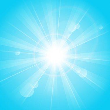 Sunny rays blue