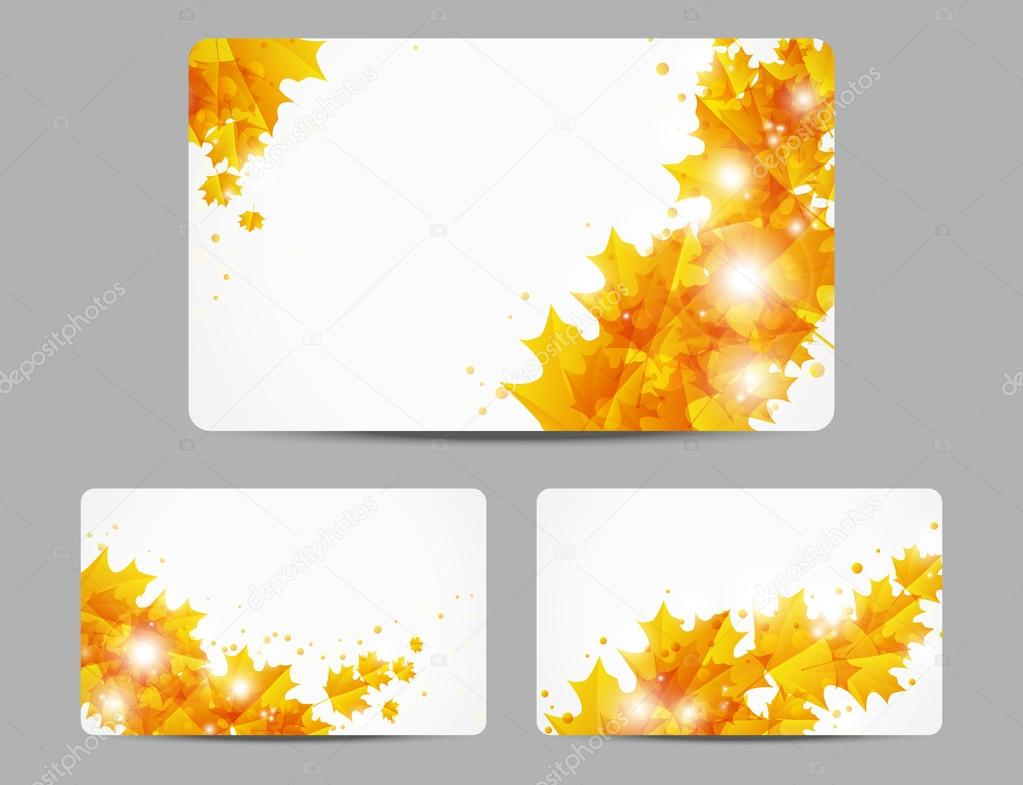 Autumn glowing banners