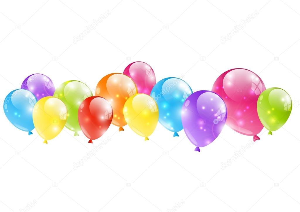 Shiny balloon border