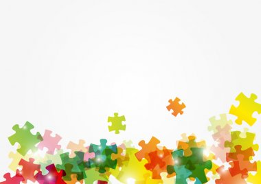 Puzzle color background