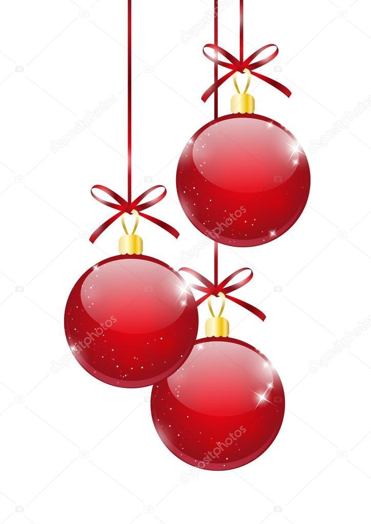Palle di natale rosse vettoriali stock huhli13 15530477 for Dibujos de navidad bolas