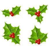 Reihe von Weihnachtssymbolen