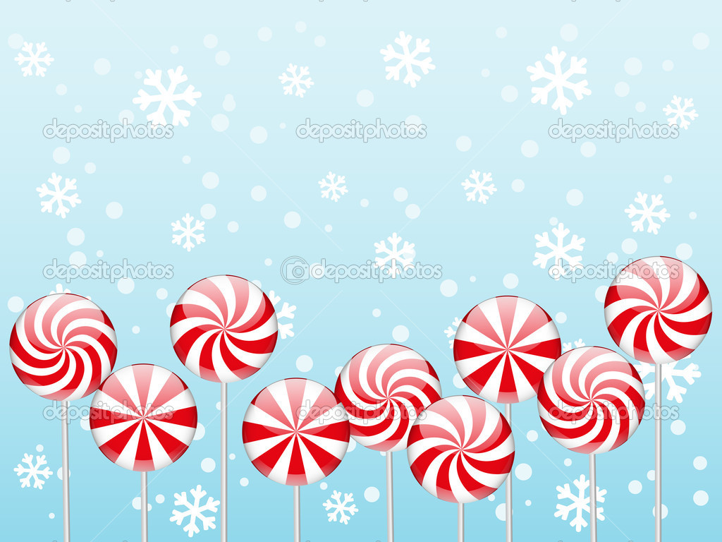 Christmas candies border — Stock Vector © Huhli13 #16334481