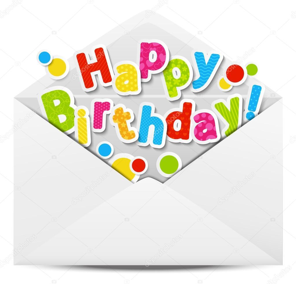 grattis mail Gelukkige verjaardag bericht in mail — Stockvector © Huhli13 #22896150 grattis mail