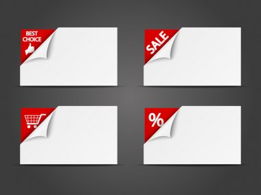 Set of shopping horizontal banners