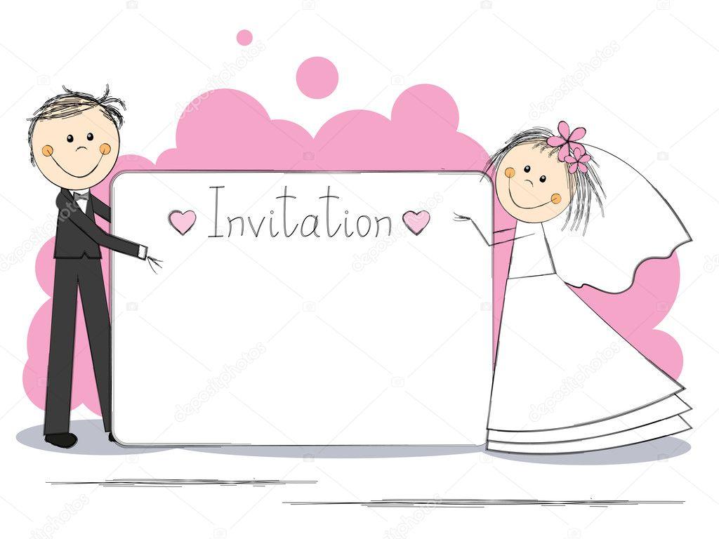 Рисунок для приглашения на свадьбу