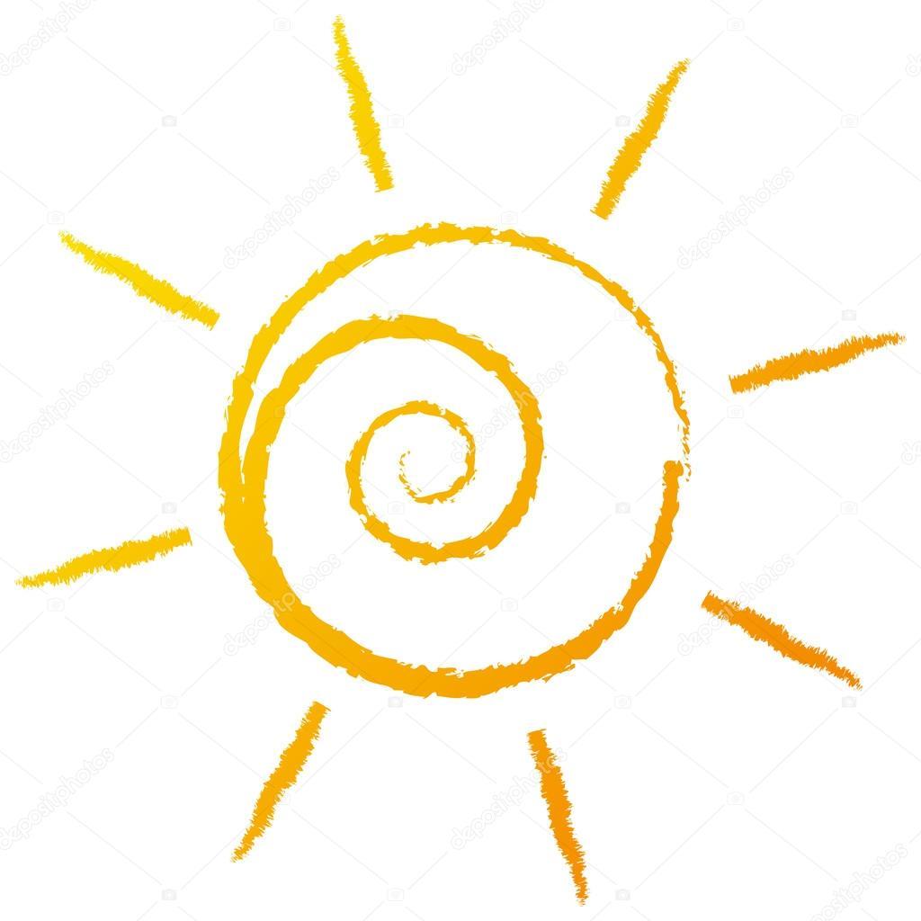 Stylized drawing Sun