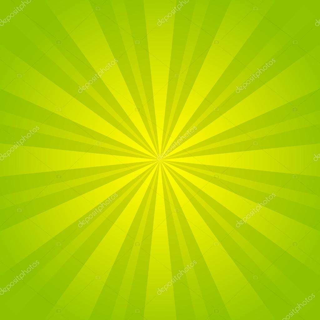 Green rays background for Your design