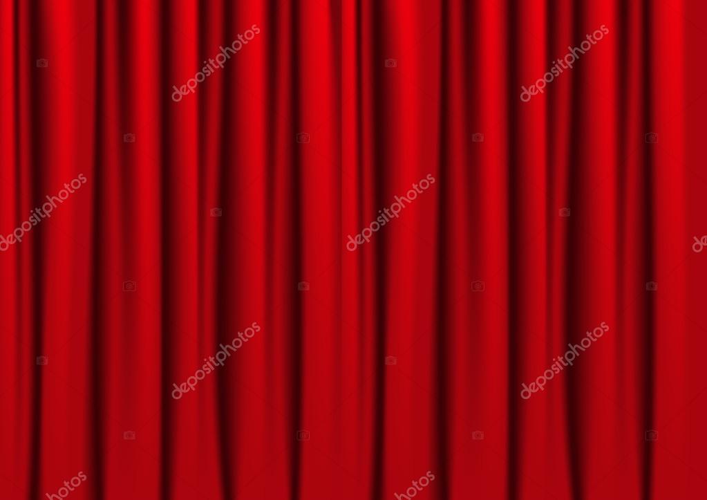 rode gordijnen — Stockvector © Huhli13 #30485319