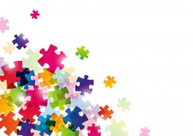 Color puzzle background