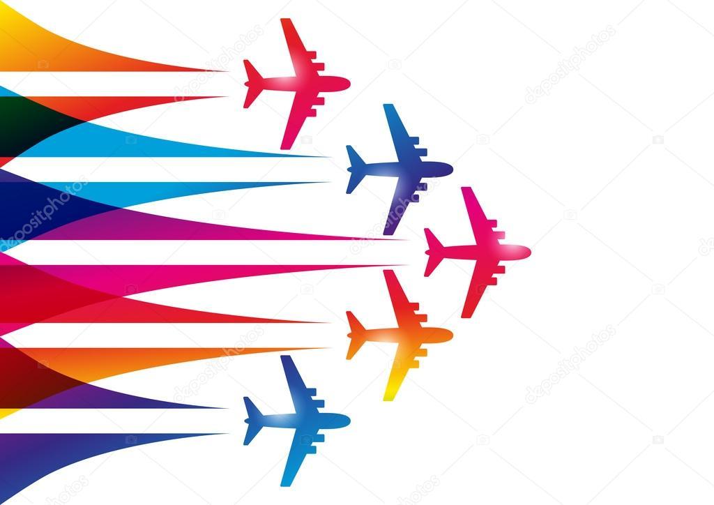 Aviones color blanco   siluetas de los aviones de color en blanco ...
